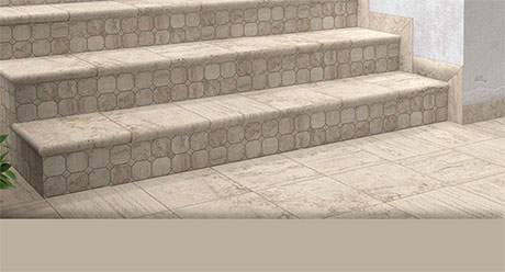 TRAVERTINO REALE-ESCALERAS-Ceramica-Natucer