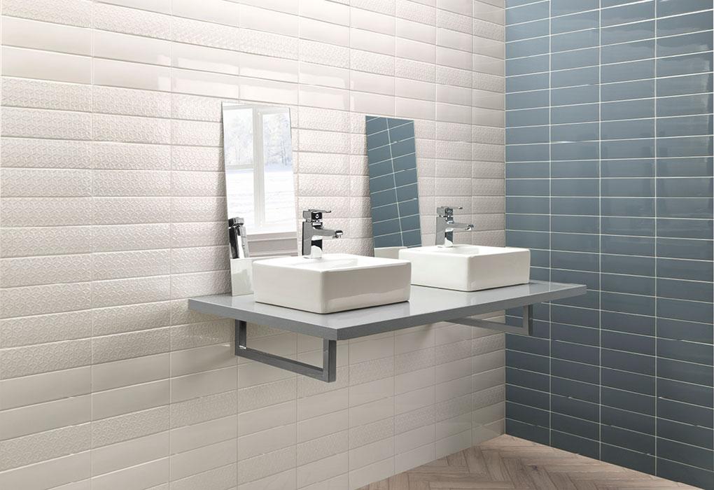 Cer mica para ba o ambientes natucer cer mica natural for Azulejos rectangulares