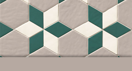 COMPOSICIÓN NEW PANAL ROMBO FARINA 10 | 33,33% · NEW PANAL ROMBO VERT 10 | 33,33% · NEW PANAL HEX. CREAM 10 | 33,33%