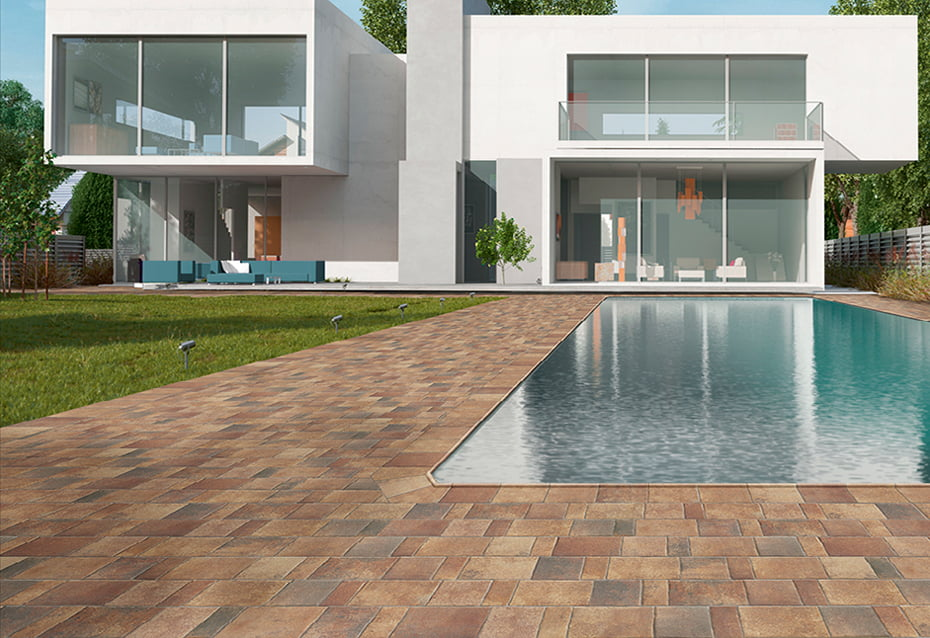Porcelain mud floors for swimming pools and design tips
