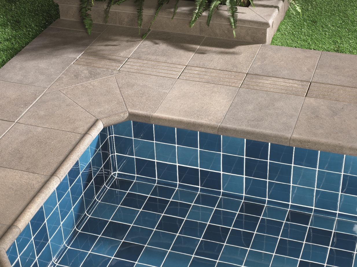 Technical pool solutions in ceramics – The best special pieces for swimming pools